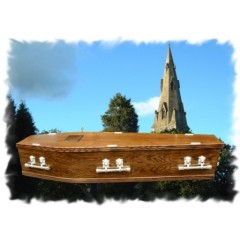 Solid Oak Coffin - Natural Simplicity